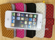 mobile phone PU leather cases for Iphone5 with card holder