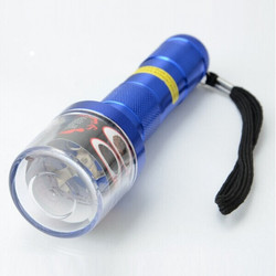 Practical Flashlight Shaped Electric Tobacco Grinder Red Blue Yellow colors grinder electrical