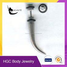 steel stretcher plug body piercing jewelry