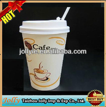 disposable coffee cup with lid/paper cups take away / cup fan