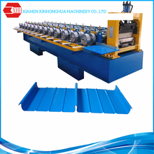 Fully automatic construction guardrail roll forming machine