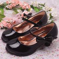 Bow Buckle Strap Link Wholesale Girls Shoes