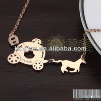 fancy necklace design pumpkin carriage fashion jewelry rose gold wholesale