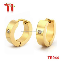 Fashion new models stainless steel simple gold huggie earring designs for women