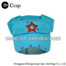 2015 children embroidery cotton sun visor cap