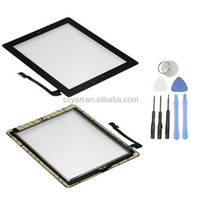 Digitizer Screen Replacement Assembly Home, Adhesive, for iPad 3 4