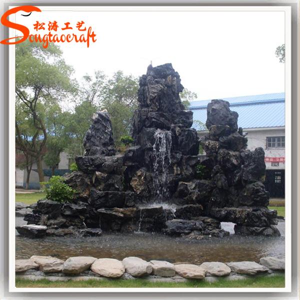 Artificial stone big rock outdoor garden fountain graphic for Big garden rocks for sale
