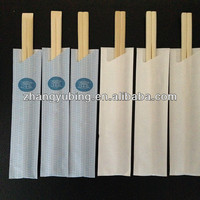 wholesale quality tableware bamboo chopsticks with paper sleeve in bulk with high quality