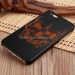 2016 wholesale laser engraving custom design wooden cell phone cover for iphone 6s plus