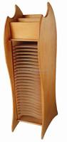 wooden desktop standing CD storage shelf number of floor can be customized