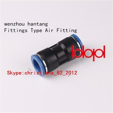 High quality plastic pneumatic Fittings,Fittings Type Air Fiting,PU size of the air fittings