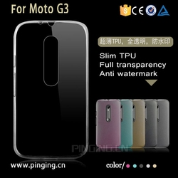 Hot sale transparent ultra thin tpu case cover for Motorola Moto G3, clear crystal tpu case for Moto G3