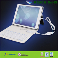 Ultra-thin Bluetooth Keyboard Stand Leather Case for iPad
