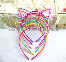 china cheap anime cat ear party candy color plain wholesale plastic headbands