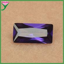 Amethyst special labradorite cut stone 4*8 rectangle cubic zirconia in stock