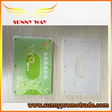2015 transparent plastic card holder