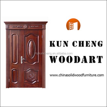 European style Solid red oak ,mahogany ,kevazingo, solid wood picture door