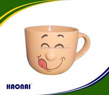 300ml ceramic 3D nose mug/soup mug