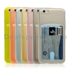 Transparent Card Slot Clear Back TPU Case for iPhone 6S Plus Housing Cover