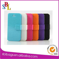 slim light up phone case new wallet flip PU leather case cover for iphone 5