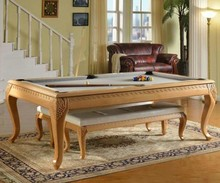 House use folding pool table 7ft/8ft/9ft Black 8 carving dining pool table
