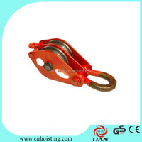 Single Double Triple wheels pulley/sheave block with competetive price