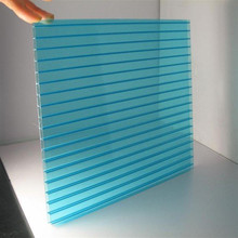 Roofing Polycarbonate / PC hollow sheet for 10 years Warranty and 6mm 8mm 10mm 12mm thick free sample MOQ 100sqm