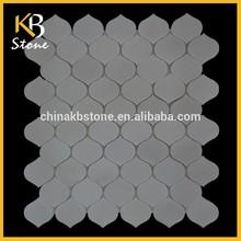 2015 New Design China White Peach Lantern marble floor tiles, mosaic tile sheets, new wallpaper design