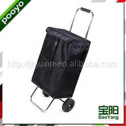 portable shopping trolley bag for promotion wholesale rose folding shopping bag