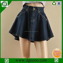 occidental el servicio del oem de jean de mezclilla para niñas y damas pantalones vaqueros falda corta