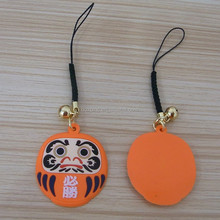 Orange Japanese Mascot mobile strap/pendant charm