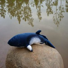 Best seller handmake high simulation stuffed animals OEM whale plush toy