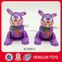 Cute Custom Animal Shaped Wind Up Toy For Kids Gift Plastic Toy Rabbit