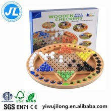 Hot sale 6 in one wooden chess games set