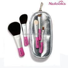 best quality cute natural wooden mini brush set 5pcs travel kit