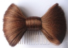 Lady Gaga Synthetic Hair Bow with comb