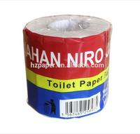 printed custom logo wrapping 3 ply toilet tissue paper