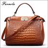 Lastest design leather setchel bag women handbag wholesale with factory price