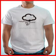 Men t shirt custom printing soft cotton