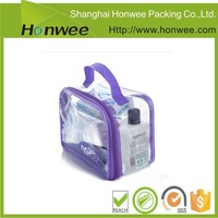 factory direct custom design pvc ziplock bag with handle