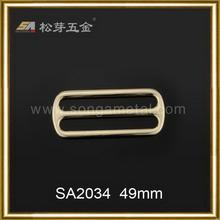 2015 factory direct crazy selling brass metal double pin belt buckle