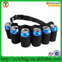 Promotional durable polyester beverage 6 beer can holder