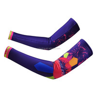 Wholesale Custom Digital Sublimated Print Lycra High Quality Bicycle Sport Arm Sleeve
