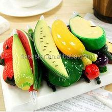 promotion fruit vegetable ballpoint pen plastic pen