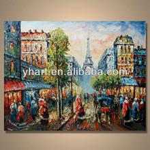 Hechos a mano moderna del paisaje hermosa pintura de la lona para sala de