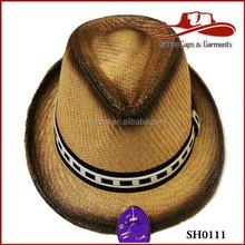 New Unisex Panama Trilby Cuban Stytle Short Brim Beach Sun Straw Fedora Hat