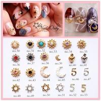 2015 new arrive metal 3d nail art studs/3d nail art charms/nail supplier