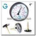 Economical acero negro termometro metalico