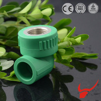 China import direct ppr pipe fitting agriculture irrigation 90 degree threaded elbow