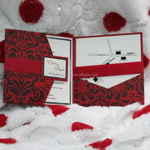Alibaba china branded folding special wedding invitation card